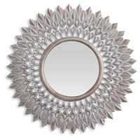 Mirrors, Lawson Sunburst Wall Mirror, Whitewashed, Wall Mirrors