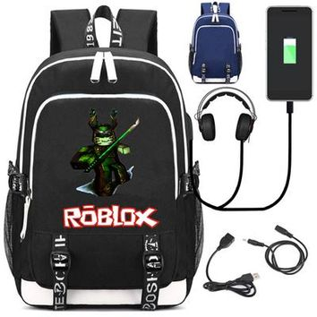 Student Backpack Children Roblox USB charging mochila students Backpack student school bag Notebook Badcc and Asimo backpack Leisure Daily bagpack AT_49_3
