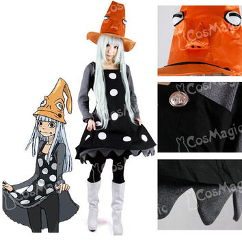 HOT New Anime Soul Eater Frog Witch Cosplay Costume Original Edition Animated Character Clothing Halloween Dress