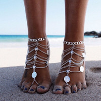 Fashion Chain Anklet Bracelet Foot Ankle Women Lady Jewelry Elegant-03324