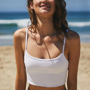 LA Hearts White Kinga Cropped Bikini Top | PacSun