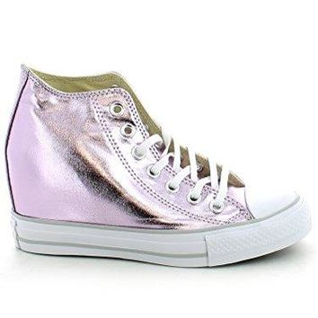 8758814cd47 Converse Women s Chuck Taylor Lux Wedge Shoe Silver