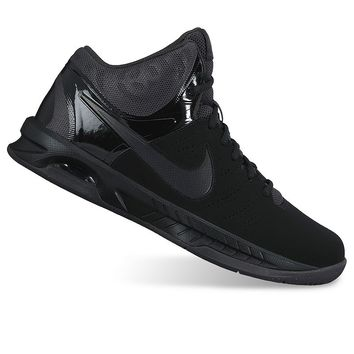 Nike Air Visi Pro VI Men's Nubuck Basketball Shoes (Black)