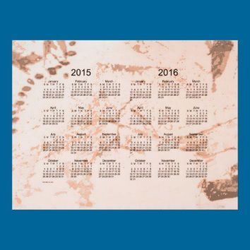 Old Peach Paint 2 Year 2015-2016 Wall Calendar Posters from Zazzle.com