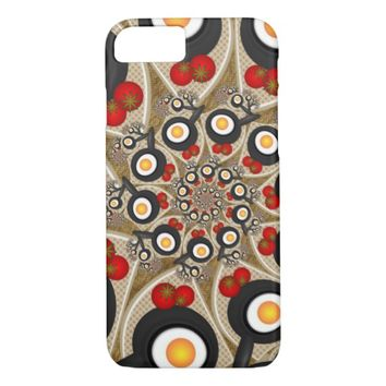 Brunch Fractal Art Funny Food, Tomatoes, Eggs iPhone 8/7 Case
