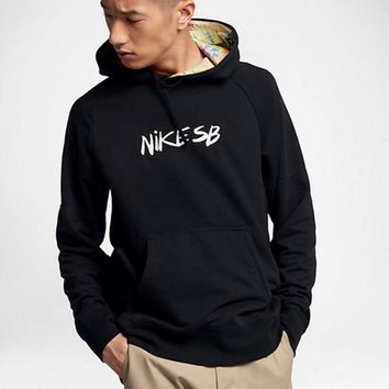 NIKE Fashion Casual Letter Print Long Sleeve Pullover Hoodie Sweater