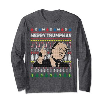President Trump Ugly Christmas Sweater Long Sleeve Shirt