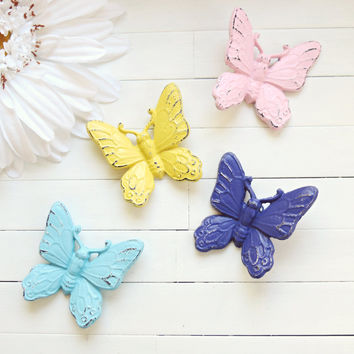 Butterfly Wall Hanging / Garden Decor / Home Decor / Woodland / Butterfly Decoration / Butterflies Wall / Pink Home Decor