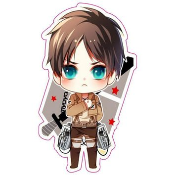 Cool Attack on Titan  Removable Stickers Cute no  Fixed Gear/Luggage/Phone/Fridge/Car Stickers Waterproof Sticker AT_90_11