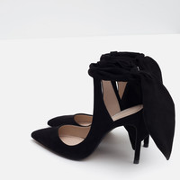 SLINGBACK HIGH HEEL SHOES WITH BOW