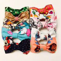Character Hair Bows and Bow Ties