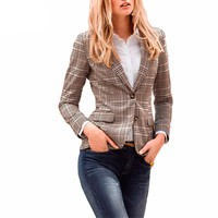 Blazers for Women Ladies Blazer Blazer Jacket Plaid Sports Blazer Jacket Coat