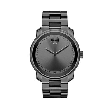 Movado Bold Gunmetal Grey Stainless Steel Swiss Quartz Men's Watch