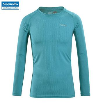 Men Outdoor Sport Quick Dry Breathable Anti-Pilling Long Sleeve T Shirt Male Black Running Hiking T-shirt Brand