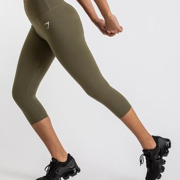 Gymshark Dreamy Cropped Leggings - Khaki