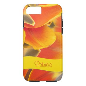 Vibrant Orange Tulip Petals Photograph iPhone 8/7 Case