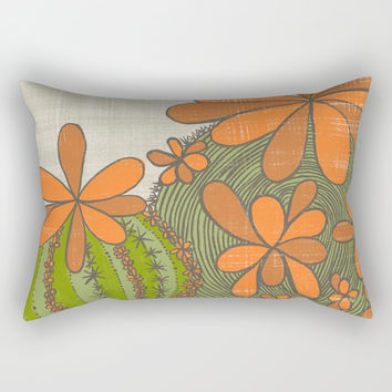 A Flower Does Not Think of Competing...(Grow Free Series) Rectangular Pillow by Jen Montgomery