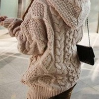 VONE05 Knit Buttons Long Sleeve Cardigan Jacket Coat Knitwear