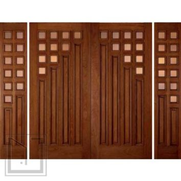 jeld-wen 800 Mahogany Doors and Sidelights Clear IG Glass