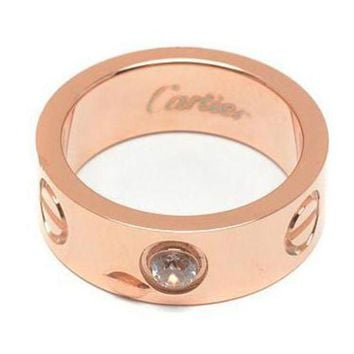 Cartier Trending Women Men Simple Diamond Ring Lovers Lovely Rings Rhinestone Ring I