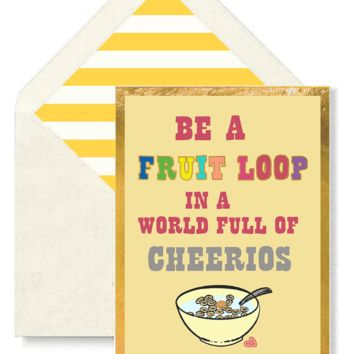 Why Be A Fruit Loop Greeting Card, Single Folded Card or Boxed Set of 8