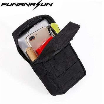 2pcs/lot Molle 600D Pouch Waist Bags Tactical Portable Pack Outdoor Hunting Waterproof Organizers