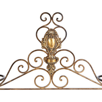 """32"""" Tuscan Fireplace Fender, Gold, Fenders"""
