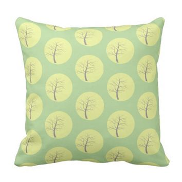 Awesome Stylish Sunny Tree Throw Pillow Cushion