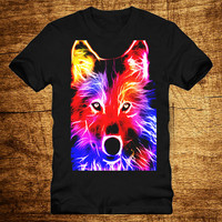 T shirt fox electrical colorful, T shirt Girl, T shirt Mens, Awesome T shirt, Funny T shirt