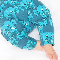 Baby Leggings , Blue Elephant Leggings , Baby Boy Leggings , Baby Girl Clothes , Unisex Baby Clothes , Baby Pants , Boys Trousers , Blue