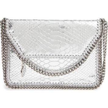Stella McCartney 'Mini Falabella' Snake Embossed Faux Leather Shoulder Bag | Nordstrom
