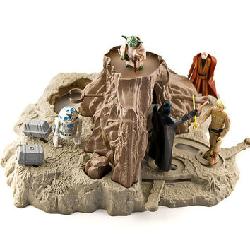 Star Wars Dagobah Playset, Yoda's Hut, 1981, Training Backpack, Near Complete