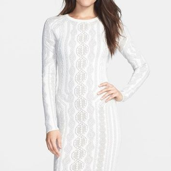 Women's BCBGMAXAZRIA 'Jaime' Cotton Blend Sweater Dress