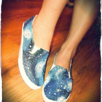Hand Painted Galaxy Shoes