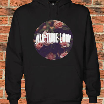 all time low sunflower Black white Pullover Sweater Sweatshirt Hoodie