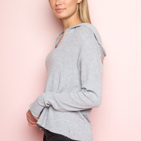 Collette Thermal Hoodie - Sweaters - Clothing