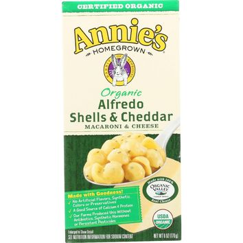 Annie's Homegrown Organic Alfredo Shells and Cheddar - 6 oz