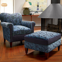 Molly Rose Chair in Lake by Mary Lynn O'Shea (Upholstered Chair) | Artful Home
