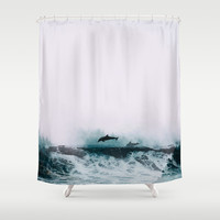 *The Song of Freedom* #society6 Shower Curtain by 83oranges.com