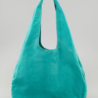 Sienna Studded Hobo Bag, Teal