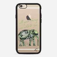 Elephant Geometric Print Wild & Free - Green & White iPhone 6s case by Love Lunch Liftoff | Casetify