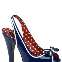 Bettie Platform - Navy Blue Pat