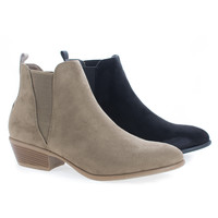 Manny11 Chelsea Almond Toe Slip On Ankle Boots