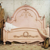 Painted Cottage Romantic Queen /Full Shabby Pink Bed BD209