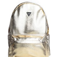 METALLIC PYTHON BACKPACK / GOLD