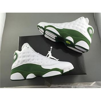 Air Jordan  Retro A J 13 while/green Basketball Shoes 41-47