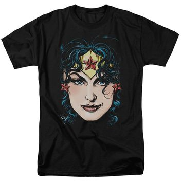 Dco Jla - Wonder Woman Head Short Sleeve Adult 18/1