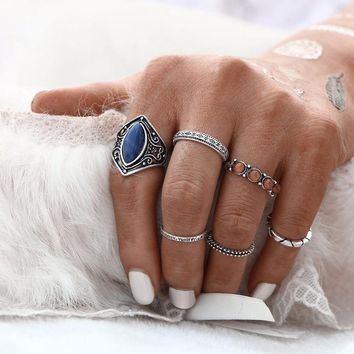 6pcs Bohemian Rings for Women Promise Rings Fashion Jewelry Vintage Jewelry