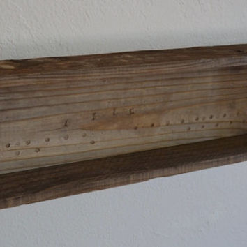 Reclaimed wood shadow box style shelf 23 wide