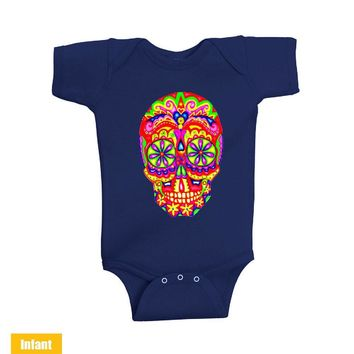 Super Skull - Infant Lap Shoulder Bodysuit Funny and Music